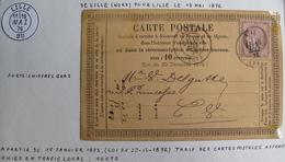 LOT 4269/163 - CARTE POSTALE (PRECURSEUR) - CERES N°54 (LETTRE) LILLE > LILLE - 1849-1876: Période Classique
