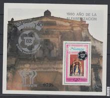 XG-AK464 NICARAGUA - Football, 1978 Paintings, World Cup Ovp. MNH Sheet - Otras Colecciones