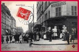 """En L'état CPA 94 St SAINT-MANDE - Avenue D'Alsace-Lorraine ° Collection F. Fleury * Magasin De """"nouveautés"""" Animation - Saint Mande"""