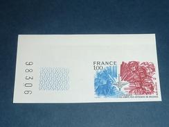 TIMBRE DE FRANCE NON DENTELEE N°1890a Centenaire Du Corps Des Officiers De - Bord De Feuille - NEUF SANS CHARNIERE (C.V) - No Dentado