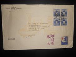 Taiwan Lettre De Taipei 1953 Pour Zurich - 1945-... République De Chine