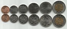 Ghana 2007. Complete Coin Set Of 6 Coins  1+5+10+20+50 Pesewas + 1 Cedi 2007. UNC - Ghana
