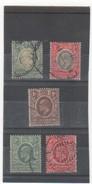 AFR. OR. BRIT. 1903-07 YT N° 92-93- 124-125-126 - Kenya, Uganda & Tanganyika