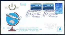 1984 Commemorative 50 Years Nederland To Melbourne Australia MacRobertson Race - Postal History
