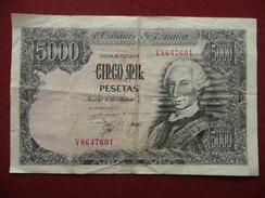 ESPAGNE Billet De 5000 Pesetas 06/02/1976 - [ 4] 1975-… : Juan Carlos I