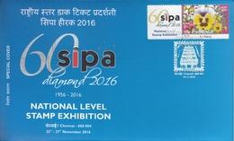 India  2016  Holographic Postmark  Swarovski Diamond Studded  Orchids Mystamp  Special Cover # 94880   Inde Indien - Holograms