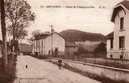 CPA - BRUYERES (88) - Aspect De La Rue De Champs-le-Duc En 1933 - Bruyeres