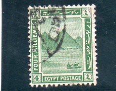 EGYPTE 1920-2 O - 1915-1921 Protectorat Britannique