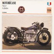 Fiche : MOTO / FRANCE / MOTOBECANE 750 B 7 / 1930 - Motos