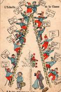 Militaria L'Echelle De La Classe Militaires Illustration Humour La Quille Armée Service Militaire - Humoristiques