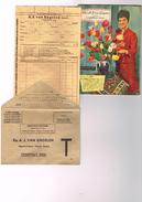 Catalogue Fleurs Ets. A J.Van Engelen Chantilly Oise Automme - Enveloppe Et Bon De Commande Oignon à Fleur Plante Rosier - Publicités