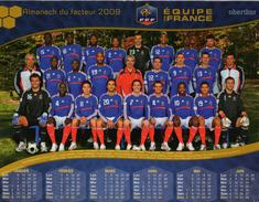 Calendrier Almanach La Poste PTT 2009 FOOTBALL EQUIPE DE FRANCE - Formato Grande : 2001-...