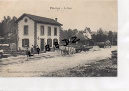 CPA - 51 - POUILLON - La Gare -TRAIN Ou TRAMWAY à Vapeur - Autres Communes