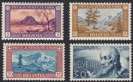 SVIZZERA - SUISSE - SCHWEIZ - 1929 - Serie Completa Yvert 235/238 Nuovi Con Traccia Di Linguella. Pro Juventute. - Pro Juventute