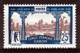 Gabon (French Colony),  View Of Libreville, 1910, MH VF - Neufs