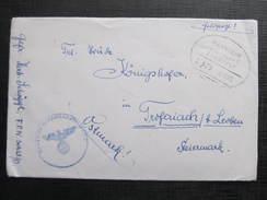 Feldpost Mannheim Stuttgart Zugstempel Bahnpost FPNr.: 30621D 1943////  D*24758 - Allemagne