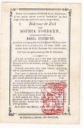 DP Sophie Fordeyn ° Caprycke Kaprijke † St.-Laureins 1896 X Karel Goossens - Images Religieuses