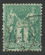 France, 1 C. 1876, Sc # 64, Mi # 56I, Used - 1876-1878 Sage (Type I)