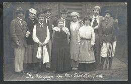 """+++ CPA - Photo Carte Ch. D'Hont BRUGGE - Foto Kaart - BRUGES - """"Le Voyage De Mr Perrichon"""" 1918 - Théâtre  // - Brugge"""