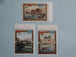 1972  Gabon Yvert  PA 124/5 ** Bateaux Ships  Scott C 123/5 Michel 456/8 SG 443/5 UNESCO Venise Painting - Gabon (1960-...)