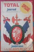 Journal TOTAL N° 28 1970 Collection Figurines Et Médailles Centenaire De La 3 ème République - Livres, BD, Revues