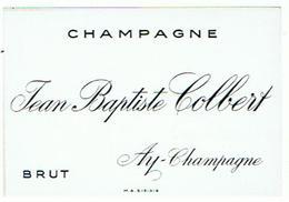 ETIQUETTES  CHAMPAGNE  JEAN BAPTISTE COLBERT    ****   RARE    A   SAISIR ***** - Champagne
