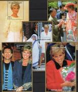 Mutter Teresa+Lady Di 1997 Niger 3 Blocks 110,Bl.111 A+106 B ** 59€ Model Diana GB Hoja Blocs Ss Royal Sheets Bf UK - Textile