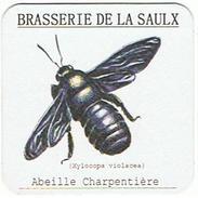 SOUS BOCKS  BRASSERIE DE LA SAUX   ABEILLE CHARPENTIERE  ****   RARE    A   SAISIR ***** - Bierviltjes