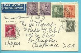428+431+433+435+480 Op Brief Per Luchtpost (avion) Met Stempel BRUXELLES Op 29/8/1939 Naar U.S.A. / Per CLIPPER - 1936-1951 Poortman