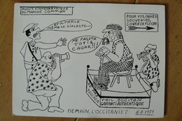 CP - Occitanie - Festival D'Art Scénique Occitan D'Avignon Vaucluse (84) - Carte Humoristique - Theatre