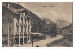 CPA MB 88 St Saint Gervais Les Bains Pâtisserie Lacombe Haute Savoie Mont Blanc Animée Circulée - Saint-Gervais-les-Bains