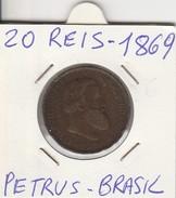20 REIS 1869 - PETRUS II - BRASILE-  BUONA CONSERVAZIONE- LEGGI - Brasile