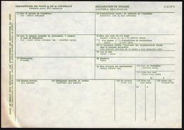 Yugoslavia / Post / Customs Declaration / Declaration En Douane - Documenti Storici