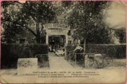 77 PONTHIERRY - Hôtel De La Gare COUTANT - Voitures à Volonté Pour Courses Et Promenades - Saint Fargeau Ponthierry