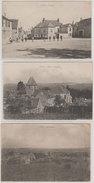 51 Ludes Lot De 3 CPA Voyagé Sans Date (1918-1920) La Place Animéel'Eglise Et  éditeur Non Précisé 850 Habitants En 1908 - France
