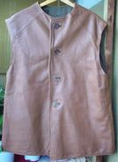 WW2 British Army Thench Leather Vest Jerkin Size 3 - 1941 Dated (original, NOT USED) - 1939-45