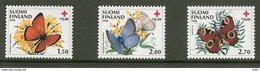 Finland 1990 Butterflies, Red Cross, Mi 1110-1112  MNH(**) - Finlande