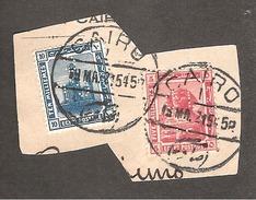 Perfin Perforé Firmenlochung Egypt YT 60 + YT 62 CL C Crédit Lyonnais Le Caire - 1915-1921 Protectorat Britannique