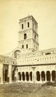France Arles Cloitre St Trophisme Ancienne Photo CDV Neurdein 1870 - Photos