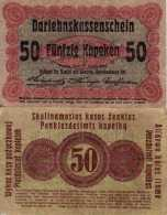 WWI (Germany - Occupation Lithuania) 50 KOPEKEN (1916) Pick R121c TB+ - [ 9] Territori Tedeschi Occupati
