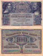WWI (Germany - Occupation Lithuania) 100 RUBEL (1916) Pick R126 TB - [ 9] Occupied German Territories