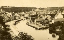 France Bretagne Quimperlé Vue Générale Ancienne Photo CDV Carlier 1870 - Photographs
