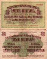 WWI (Germany - Occupation Lithuania) 3 RUBEL (1916) Pick R123b TB+ - [ 9] Occupied German Territories