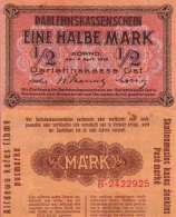 WWI (Germany - Occupation Lithuania) 1/2 MARK (1918) Pick R127 SUP (XF) - [ 9] Occupied German Territories
