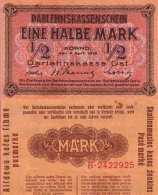 WWI (Germany - Occupation Lithuania) 1/2 MARK (1918) Pick R127 SUP (XF) - [ 9] Territori Tedeschi Occupati