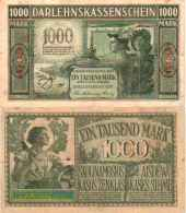 WWI (Germany - Occupation Lithuania) 1000 MARK (1918) Pick R134b TTB- (VF) - [ 9] Occupied German Territories