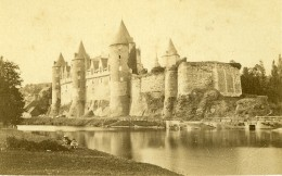 France Bretagne Château De Josselin Ancienne Photo CDV Carlier 1870 - Ancianas (antes De 1900)