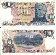 Argentine 100 PESOS ARGENTINOS (1983 - 85)  Série B) Pick 315 UNC - Argentina