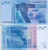 West Africa States - Burkina Faso 2000 FRANCS (2003) Pick 316Ca UNC - Burkina Faso