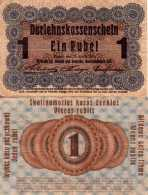 WWI (Germany - Occupation Lithuania) 1 RUBLE (1916) Pick R122c TTB (VF) - [ 9] Occupied German Territories